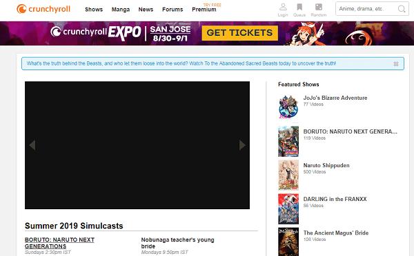 Crunchyroll-Websites like KissAnime
