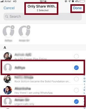 How I Can Show or Hide WhatsApp Status For Specific Contacts